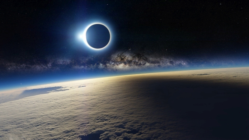 earth and moon solar eclipse