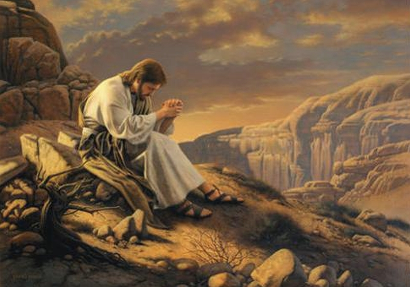 jesus-praying-alone-on-mountain